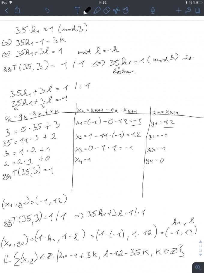 diophantische gleichung lösen 35k+3l=1 | Mathelounge