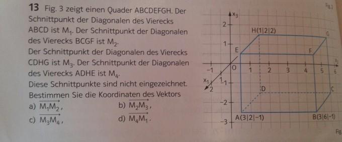 vektorrechnung quader abcdefgh schnittpunkt der diagonalen des vierecks abcd ist m1 mathelounge. Black Bedroom Furniture Sets. Home Design Ideas