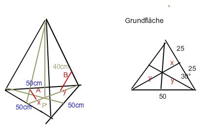 winkelberechnung in gleichseitig dreieckiger pyramide h 35cm und a 170cm mathelounge. Black Bedroom Furniture Sets. Home Design Ideas