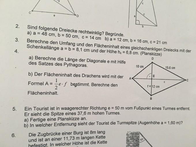 satz des pythagoras satz des pythagoras drachenviereck. Black Bedroom Furniture Sets. Home Design Ideas