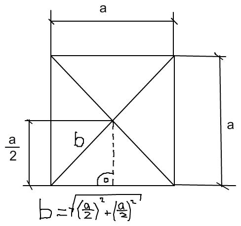 quadratische pyramide seitenkante s und h he hs berechnen. Black Bedroom Furniture Sets. Home Design Ideas