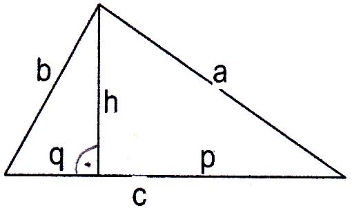 fehlende seiten und fl che eines dreiecks berechnen a c. Black Bedroom Furniture Sets. Home Design Ideas