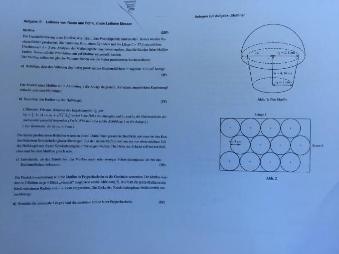 aufgabe a und b zylinder und muffin berechnen mathelounge. Black Bedroom Furniture Sets. Home Design Ideas