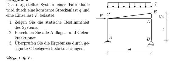 Technische mechanik auflager und gelenkkr fte mathelounge for Statik auflager berechnen