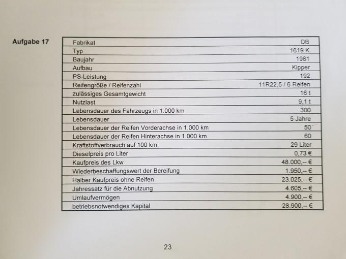 Fahrzeugkostenrechnung Mathelounge