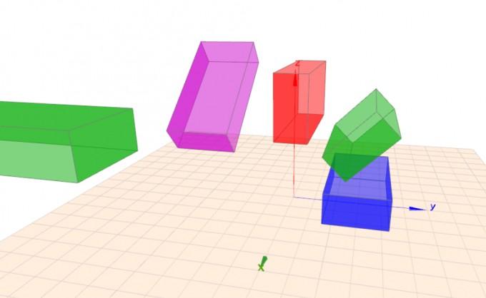 Beispiele für Quader-Rotationen