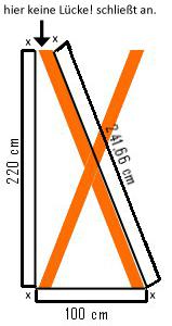 diagonale des dreiecks richtig berechnet unter. Black Bedroom Furniture Sets. Home Design Ideas