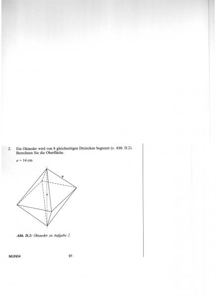 k rperberechnung ein oktaeder wird von 8 gleichseitigen dreiecken begrenzt berechne die. Black Bedroom Furniture Sets. Home Design Ideas
