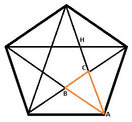 geometrie berechnung einer fl che in einem regelm igen 5 eck mathelounge. Black Bedroom Furniture Sets. Home Design Ideas
