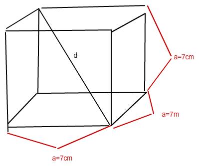 berechne die l nge der raumdiagonalen d eines w rfels mit. Black Bedroom Furniture Sets. Home Design Ideas