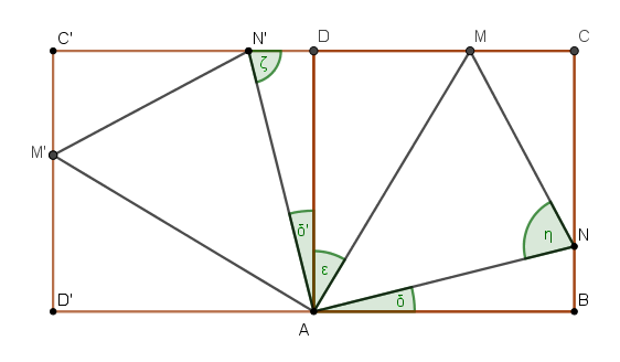 Quadrat mit Umkreis und Winkel   Mathelounge