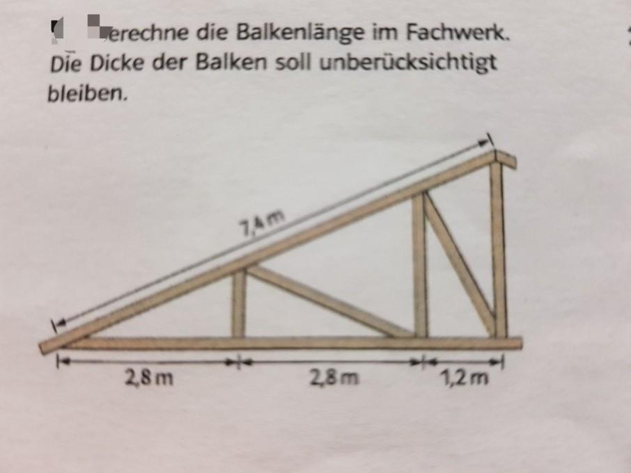 pythagoras balkenl nge im fachwerk berechnen mathelounge. Black Bedroom Furniture Sets. Home Design Ideas