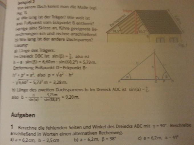 Winkel und Längenberechnung. Aufgabe 1. Rechtwinkliges Dreieck ...