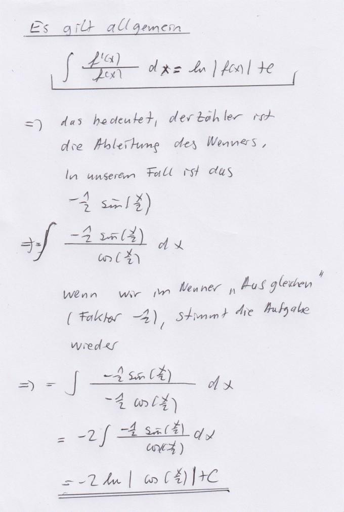 integral mit sinus und cosinus berechnen sin x 2 cos x 2 dx mathelounge. Black Bedroom Furniture Sets. Home Design Ideas