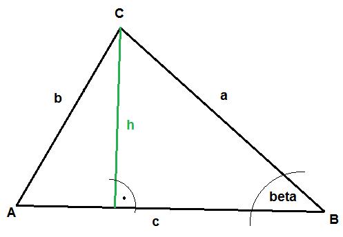 h he eines dreiecks berechnen wenn seiten a b und c. Black Bedroom Furniture Sets. Home Design Ideas