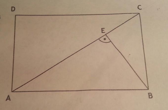 rechtecksfl che mit dem h hensatz und dem satz des pythagoras berechnen mathelounge. Black Bedroom Furniture Sets. Home Design Ideas