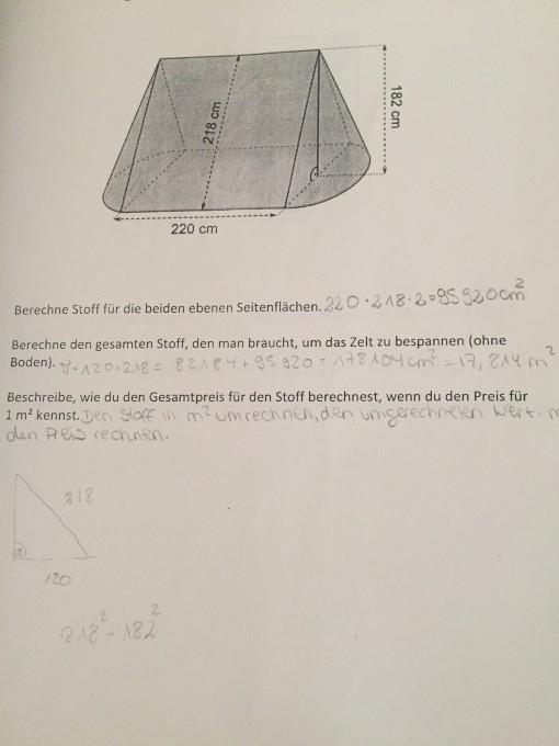 zusammengesetze k rper berechnen zelt ebene seitenfl chen quadrat oder kreis mathelounge. Black Bedroom Furniture Sets. Home Design Ideas