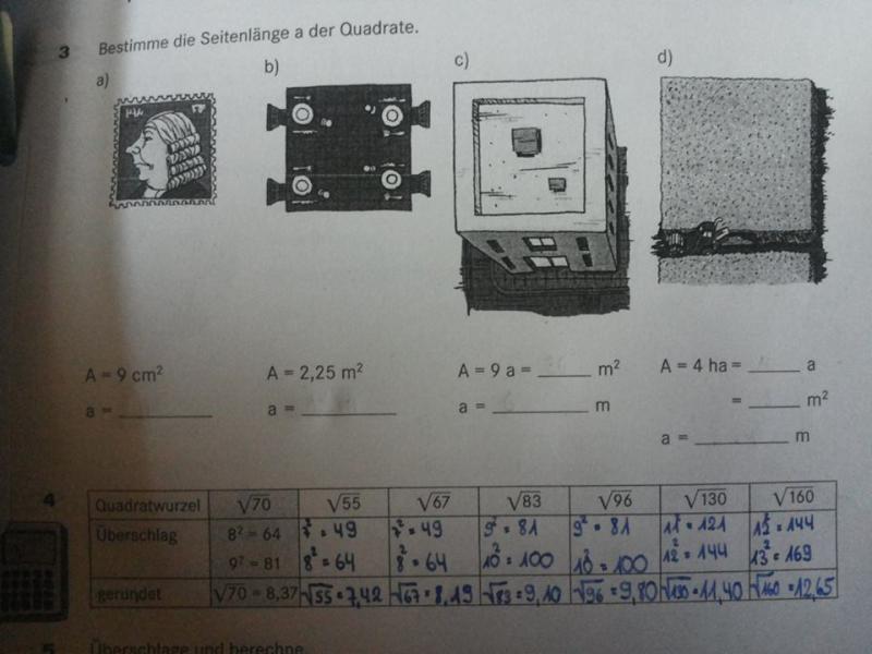 Quadrat Arbeitsblatt was muss ich machen? | Mathelounge