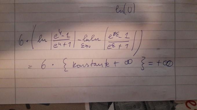 Logarithmus. Ist mein Gedanke richtig? wenn ln gegen 0 ...