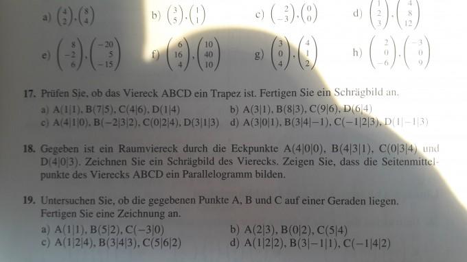 Prüfen, ob das Viereck ABCD ein Trapez ist Hilfe   Mathelounge